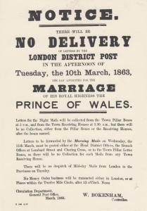 No Royal Mail Delivery As Prince Of Wales Royal Wedding Victorian Sign Postcard