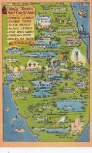 Florida Map Showing Cities and Attractions