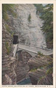 New York Watkins Glen Sentry Bridge and Upper End Of Tunnel Curteich