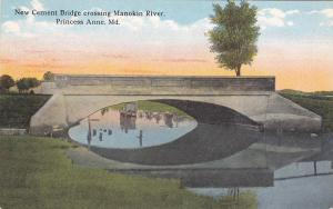 [SOLD] PRINCESS ANNE, Maryland, 1900-1910s; New Cement Bridge Crossing Manokin R