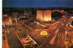Morocco Casablanca Panoramic view Square Mohammed V Hotel Postcard