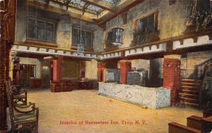 Troy New York~Rensselaer Inn~Big Key Cabinet~Marble Counter~Spittoons 1913