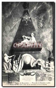 Old Postcard Nancy Bonsecours Church Mausoleum of King Stanislas Statue Betwe...