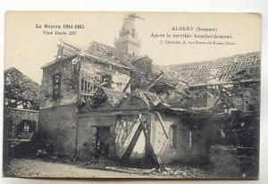 B&W 1914-15 Ruins Houses, Albert France