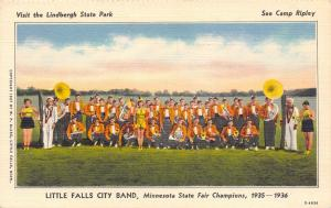 Little Falls Minnesota~City Band~State Fair Champions~Sousaphone~1936 Linen PC