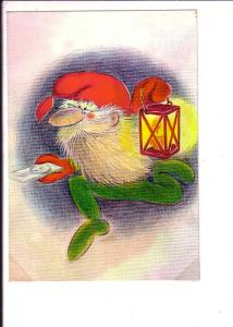 European Santa Claus with Lamp and Compass Orienteering