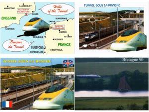 TGV TRAIN TRANSPORT RAILWAY CHEMIN DE FER  FRANCE 90 CPM