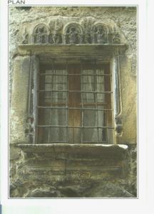 Postal 014357: Ventana en casa Turmo de Plan en el valle de Gistain, Huesca