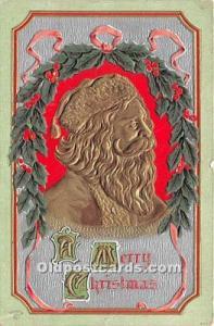 Santa Claus Postcard Old Vintage Christmas Post Card 1913