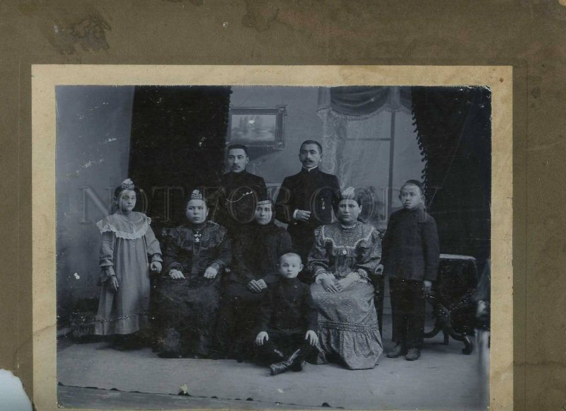 231187 RUSSIA Petersburg TATAR family 1907 year CABINET photo