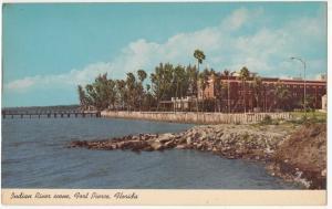 Indian River Scene, Fort Pierce, Florida, unused Postcard
