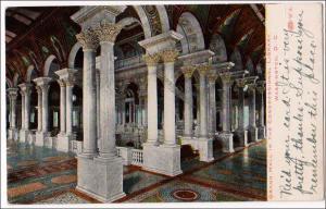 Grand Hall, Congressional Library, Washington DC