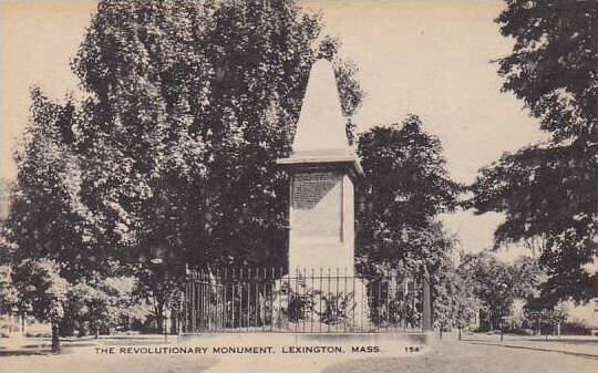 The Revolutionary Monument Lexington Massachusetts