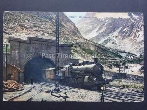 Switzerland: Gotthardbahn - Steam Train Exits Tunnel - Old Postcard