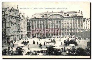 Old Postcard Belgium Brussels Grand Place Guild