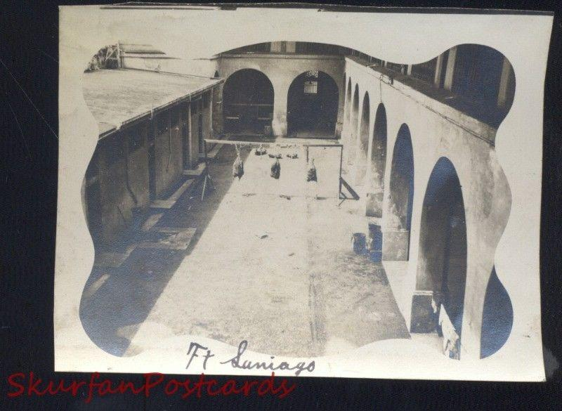 MANILA PHILIPPINES FORT FT. SANTIAGO WWI ERA US ARMY BASE REAL PHOTO PHOTOGRAPH