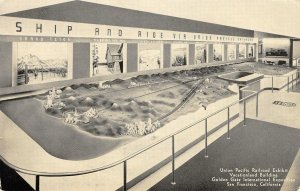 Union Pacific Railroad Exhibit GGIE 1939 San Francisco Expo Vintage Postcard