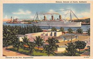 Cuba Havana  Entrance to the Port, Amphitheater   S.S. Empr...