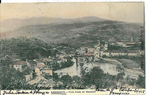 VINTAGE POSTCARD PORTUGAL  - AMARANTE 1908