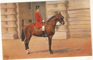 Royal Outlander in Scarlet Livery Tuck Oilette Royal Mews Buckingham Palace