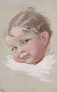 Artist W.F. ; Smiling Baby head, PU-1915 ; TUCK 949