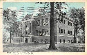 F47/ Carbondale Illinois Postcard 1925 Brush School Building