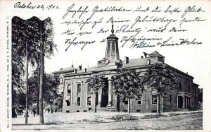 Court House, Newark, New Jersey, Very Early Postcard, Used in 1902