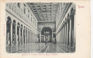 Italy Roma Rome Basilica di San Paolo fuori le Mura l'Interno
