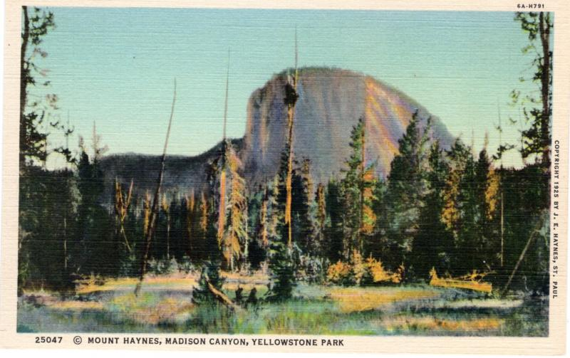 YELLOWSTONE NATIONAL PARK Haynes Linen Series.  25047.