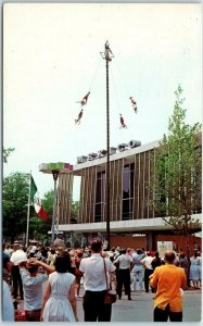 1964-65 New York World's Fair Postcard THE MEXICAN PAVILION Flyers of Papantla