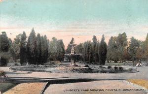 South Africa Johannesburg, Joubert's Park showing Fountain 1905