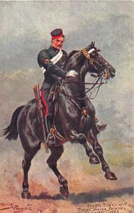 Rough Rider Royal Horse Guards 1907 Harry Payne Artist Postcard
