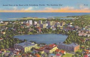 Florida Saint Petersburg Aerial View Of The Heart Of Saint Petersburg