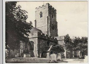 Kent; Parish Church Of St Mary & St Eanswythe RP PPC By Halksworth Wheeler