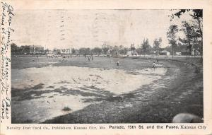 Mo. Kansas City, Parade, 15th St. and the Paseo 1906