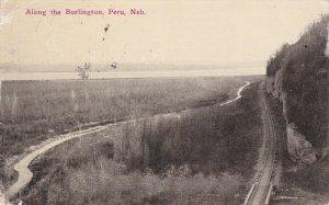 PERU, Nebraska, PU-1913; Along The Burlington