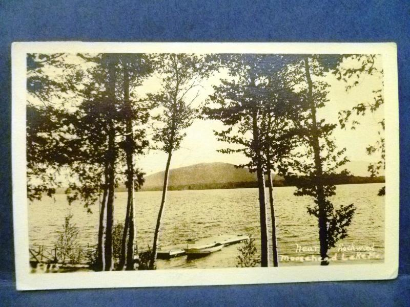 Postcard ME Moosehead Lake Near Rockwood RPPC Real Photo / HipPostcard