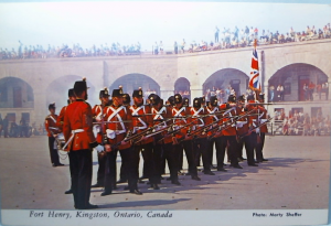 Old Fort Henry - Kingston, Ontario - Guards preparing to fire muskets