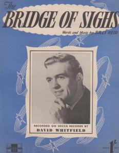 Bridge Of Sighs David Whitfield 1950s Sheet Music