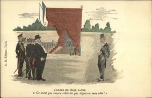 Shadow of French President Felix Faure - Political Propaganda c1900 Postcard