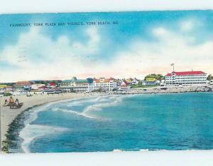 Pre-1980 PANORAMIC VIEW York Beach Maine ME i1121