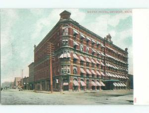 Unused Pre-1907 WAYNE HOTEL Detroit Michigan MI Q1555