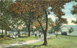 C-1910 City Park Falls City Nebraska Postcard Teich 4799
