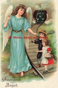 6 Postcards Set, ASB No 250, Guardian Angel Protecting Children