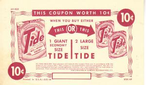 Tide - Ten Cent Coupon on Postal Card 1951