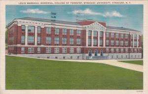 SYRACUSE, New York, PU-1944; Louis Marshall Memorial, College of Forestry, S.U.
