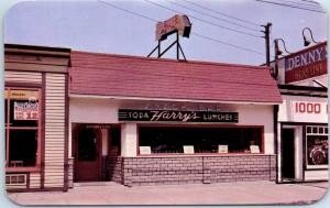 Clayton, New York Postcard HARRY'S SNACK BAR Restaurant Dexter Chrome 1950s