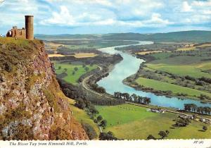 The River Tay from Kinnoull Hill, Perth General view Ruins