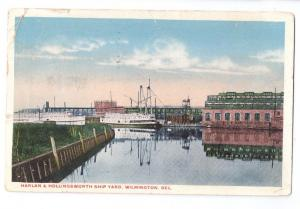 Harlan & Hollingsworth Ship Yard Wilmington DE Postcard