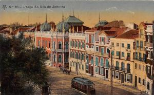 Brazil Brasil Praca do Rio de Janeiro tramway tram 1911